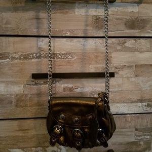 Cross body copper colored purse
